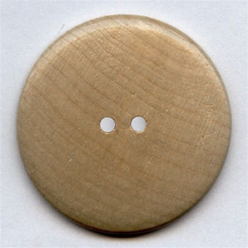 """WD-494 - Large, Natural Wood Button, 1-3/4"""""""