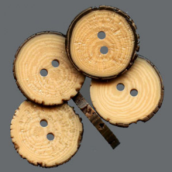 WDA-303 Faux Wood Slice Button