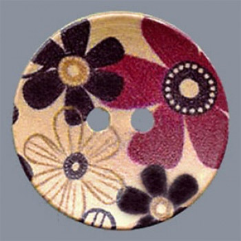 WDP-0012 Hand Painted Wood Button