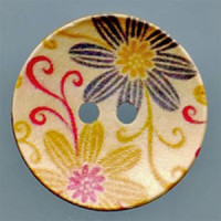 WDP-0015 Hand Painted Wood Button