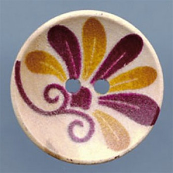 WDP-0018  Hand Painted Wood Button