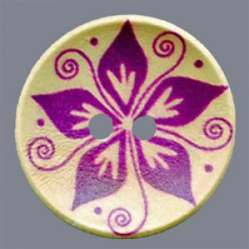 WDP-0023 Hand Painted Wood Button