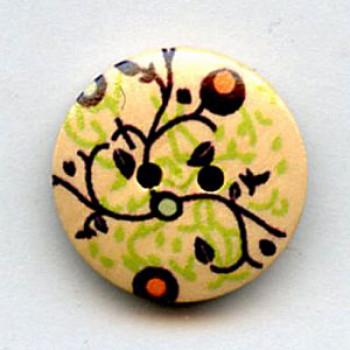 WDP-0045 Hand Painted Wood Button