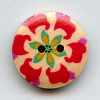 WDP-0046 Hand Painted Wood Button