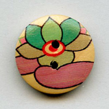 WDP-0047 Hand Painted Wood Button