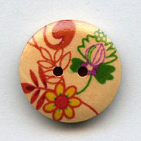 WDP-0049 Hand Painted Wood Button