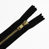 ZPB-4BK89 - #4 Brass Zipper - 8 and 9 inch, Black