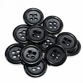 BB-501-D Black  Fashion Button - Priced Per Dozen,  3 Sizes