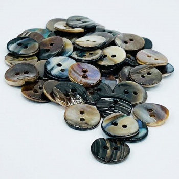"""LBM-111G - Light Brown Mussel Shell, 5/8"""" - Sold in lots of 72 pcs."""