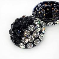 BW9182 Black & Crystal Rhinestone  Stone Combo Stones (4 Sizes)