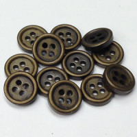 M-1906-D - Antique Brass Plated Shirt Button, Priced per Dozen