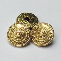 "MTL-008 - Matte Gold, 5/8"" Metal Button"