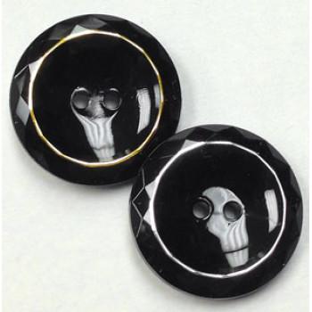 NV-1305 - Black Fashion Button, 3 Sizes