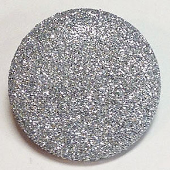 LM-300 Large Silver Glitter Button