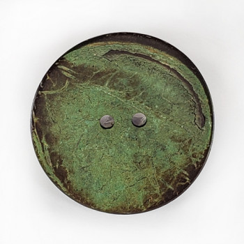 """CO-27 XL - Extra Large Green Large Coconut Button, 2-1/2"""""""