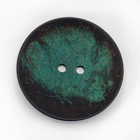 CO-28 XL - Extra Large Teal Large Coconut Button, 2-1/2""