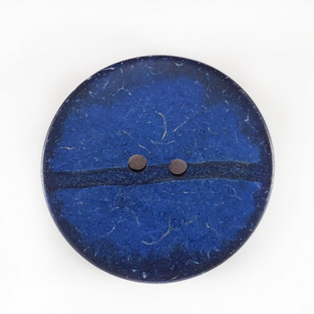 """CO-29 XL - Extra Large Navy Blue Large Coconut Button, 2-1/2"""""""
