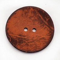 CO-30 XL - Extra Large Orange Large Coconut Button, 2-1/2""