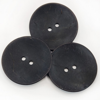 CO-31 XL - Extra Large Black Coconut Button, 2-1/2""