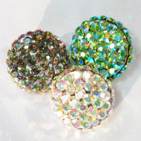 9244 AB Rhinestone Button (6 Colors)
