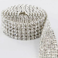 RCH-50 Rhinestone Banding (2,3,4,5,-12 Row), Sold by the Yard