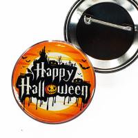 "PBC-027 Happy Halloween Button, 2-1/4"""