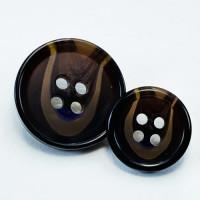 HNA-10 DK. Brown Suit  Button - 2 Sizes