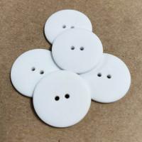KB-814W Matte White Button, 8 Sizes - Priced by the Dozen