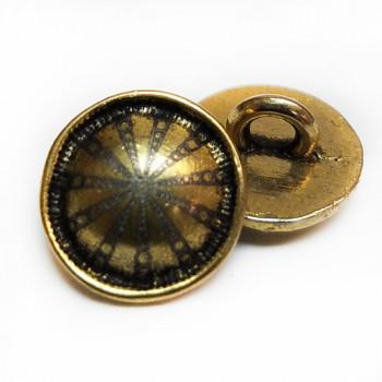 M-062-D Metal Fashion Button, Priced per Dozen