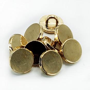 M-7248 -  Metal Gold Shank 9mm Button, Priced per Dozen