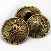 M-9192 Antique Gold Crest Button