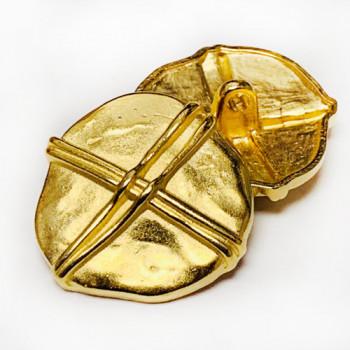 M-053-Gold Metal Fashion Button, 3 Sizes