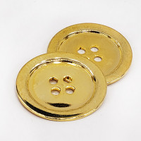 """M-1260 - Gold, 4-Hole Metal Button, 1-1/4"""""""