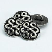 M-2040-Celtic Knot Metal Button, 3 Sizes