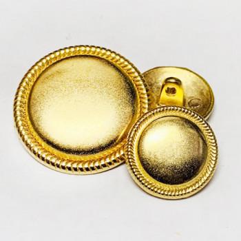 M-7843-Matte Gold Metal Shank Button, 2 Sizes