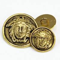 M-7921AG - Antique Gold Medusa Head Metal Fashion 2 Sizes