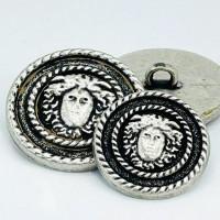M-7928 - Metal Fashion Button, 2 Sizes