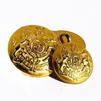M-816 Satin Gold Blazer Button - 2 Sizes