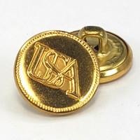 "MTL-004 - USA  Gold Button, 5/8"" Metal Button"