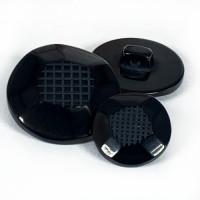 NV-1865 - Black Fashion Button - 3 Sizes,
