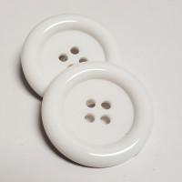 """NV-1130W Large White Fashion Button, 1-3/4"""""""
