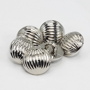 NVP-275-Bright Silver Fashion Button, 13mm - Sold by the Dozen or Gross