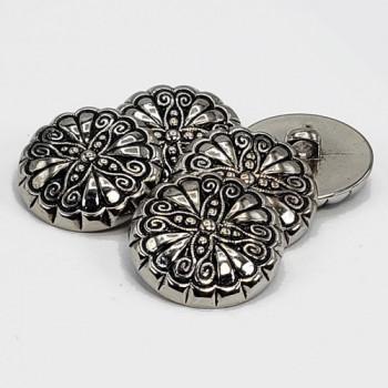 NVP-276 -Antique Silver Fashion Button, 2 Sizes Sold by the Dozen