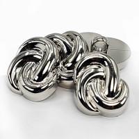 NVP-277   Silver Fashion Button, 2 Sizes Sold by the Dozen