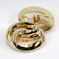 "NVP-280 -Gold Fashion Button, 1-3/8"""
