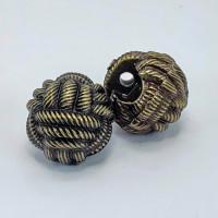 NVP-305-Antique Brass Fashion Button, 3 Sizes