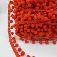 POM-106  Orange Pom Pom Trim, Sold by the Yard