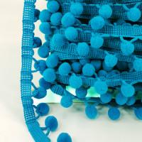 POM-109 Pom Pom Turquoise Trim. (Sold by the Yard)
