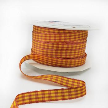 "R76110 - VICHY MULTICOLOR Tangerine/Gold 3/8"" 22 yard Roll"