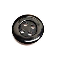 """RB-1001 Black Rubber Button - 1/2"""" Priced per Dozen"""